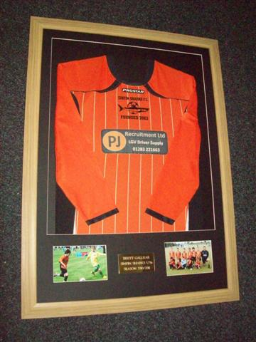 long sleeve football shirt framing